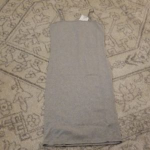 Gray topshop tank dress cotton blend